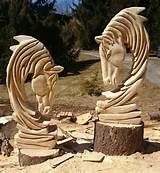 horse chainsaw carvings - Yahoo Image Search Results