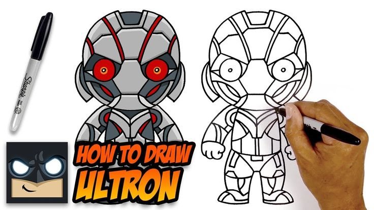 How to draw ultron the avengers stepbystep tutorial