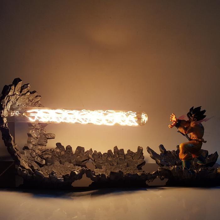 Dbz Son Goku Kamehameha Wave Yellow Diy 3d Led Light Lamp Dbz Dragonball Lamp Led Night Lamp Led Light Lamp 3d Led Light