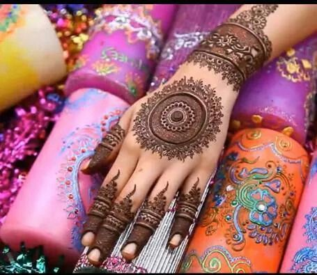 Bridal henna or mehndi designs