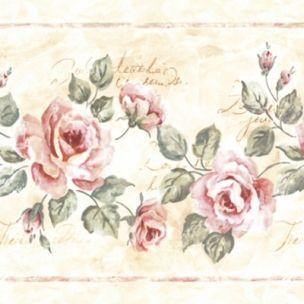 Roses Grace Cream servítky, ruže, vintage