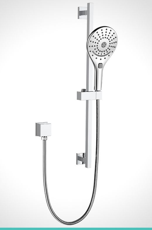 Mondella Cadenza chrome 3 function shower rail