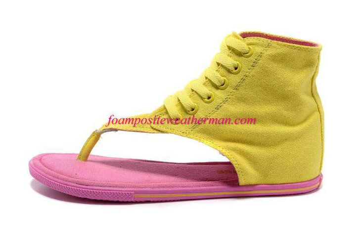 9f1a0ea055c1 Converse Chuck Taylor All Star Thong High Sandal Womens Vibrant Yellow  Pearl Pink