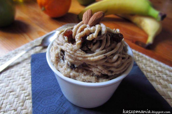 Kaszomania - pomysły na dania z kaszy jaglanej: Mus z kaszy jaglanej, bananów, masła orzechowego i...
