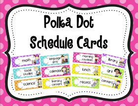 Mrs. Ricca's Kindergarten: Daily Schedule Cards {TPT Store}