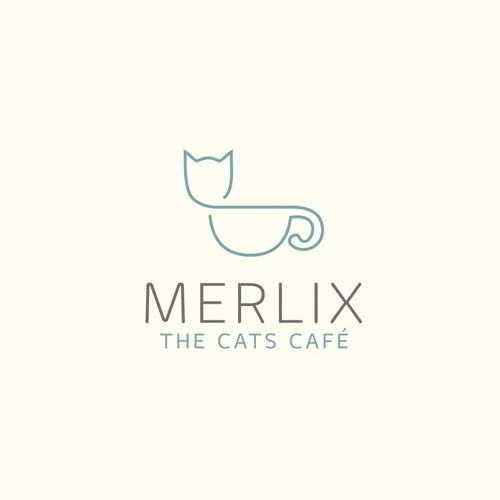Merlix is a cats café: basically a café like a Starbucks where the clients can find some cats around them. Clients can order some sophisticated coffees (latte, etc.) and some quality teas as well as several pastries. The fine line and overall beauty of the design reflects the high quality of Merlix. The logomark is drawn with one continous line giving it a highly memorable character. It's a sophisticated design with an overall friendly spirit. A logo that matches a café where people love to…