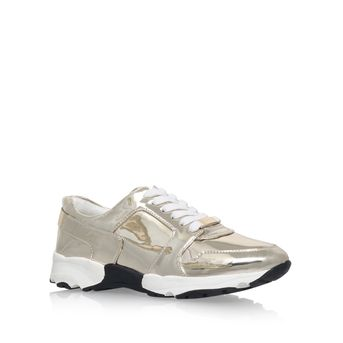 Lacrosse Gold Flat Low Top Trainers from Carvela Kurt Geiger