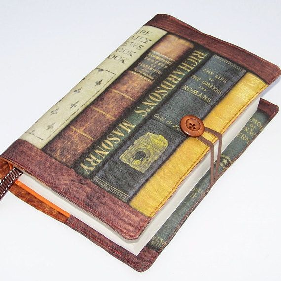 Large Book Cover Vintage American Books fabric by WhimsyWooDesigns
