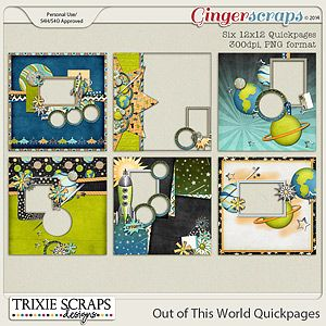 Out of This World Quickpages by Trixie Scraps Designs