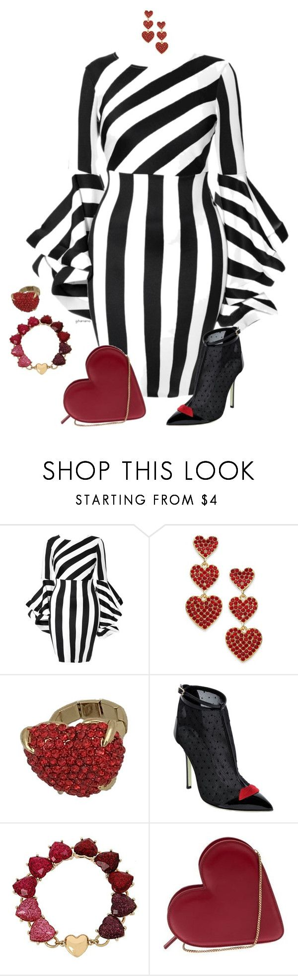 """Fool for love- plus size"" by gchamama ❤ liked on Polyvore featuring Kate Spade, Giannico, Betsey Johnson and Lulu Guinness"
