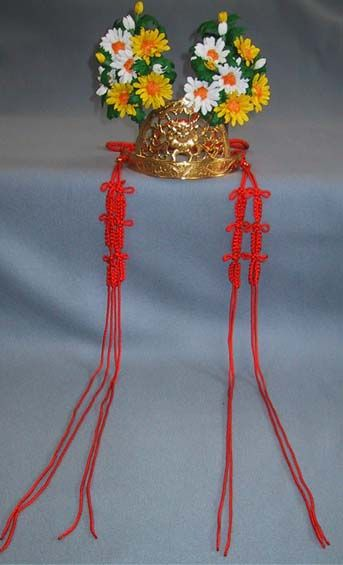 Chrysanthemums tiara for shrine maiden