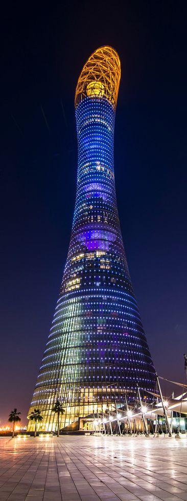 Torre Aspire. Dohar: Turismo en un día en la capital de Qatar.