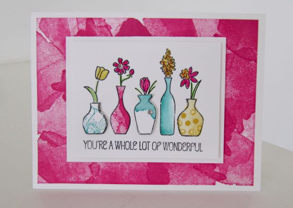 Stampin Up Vivid Vases   Video Tutorial