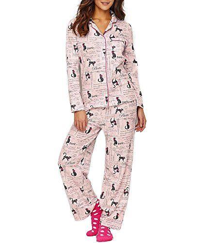 08d4ba3407b2 Karen Neuburger Paris Feline Knit Pajama Set