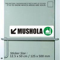 sticker safety sign bekasi murah mushola WSLPC121