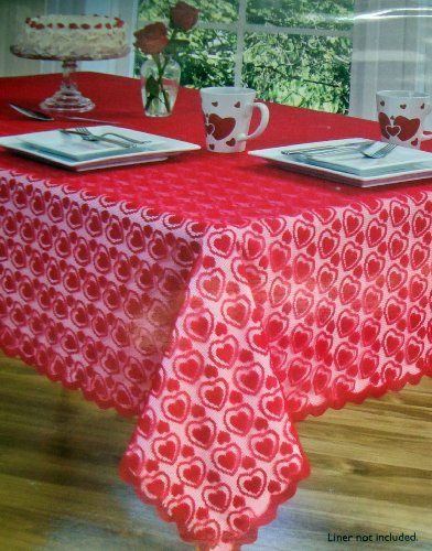 Valentineu0027s Day Tablecloths: Best Selection 2018