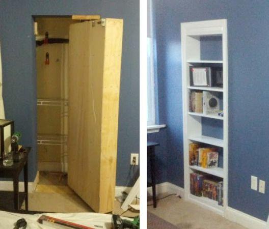 Hinged Bookcase Hidden Door Woodworking Projects Amp Plans