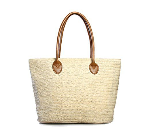 GSPStyle Women Straw Shoulder Beach Bag Weave Matched style Colour White GSP http://www.amazon.co.uk/dp/B00M2O4VUC/ref=cm_sw_r_pi_dp_jIDaub1H7HA4W