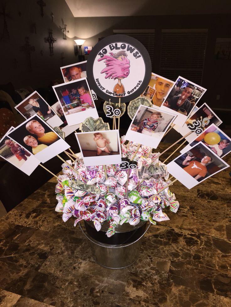 Sucker Bouquet 30 Blows Blow Pop Bouquet 30th Birthday