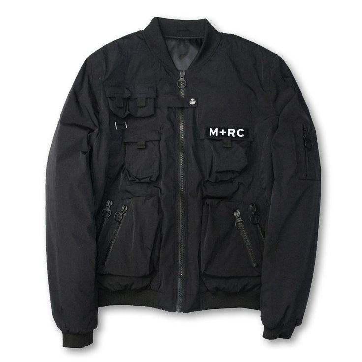M+RC NOIR BLACK NEW MULTIPOCKET BOMBERS JACKET