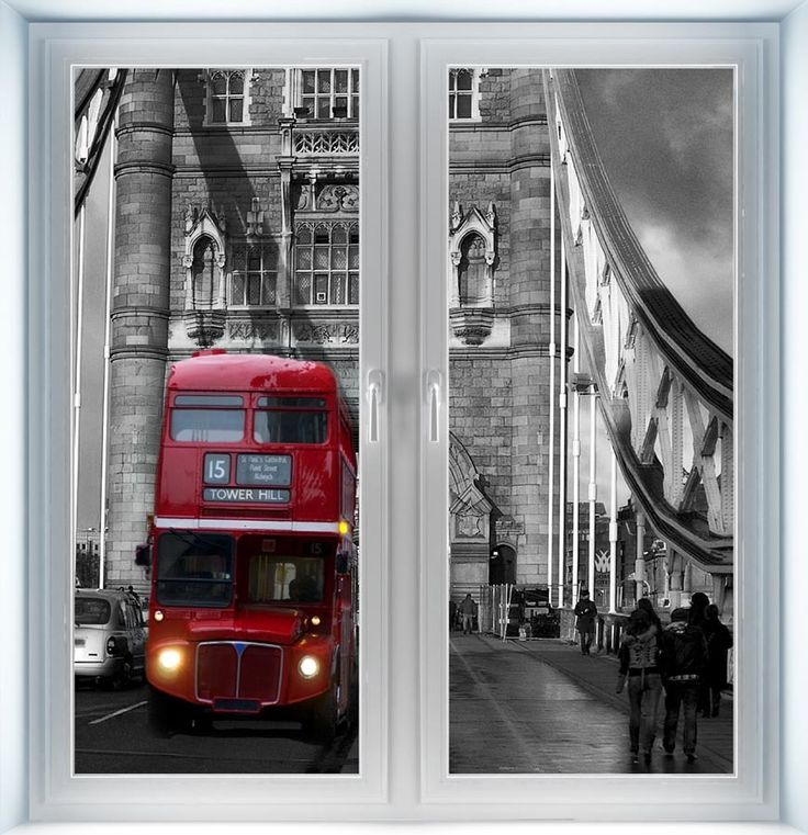 Majestic Wall Art - Red London Bus on Tower Bridge Instant Window, $44.00 (http://www.majesticwallart.com/instant-windows/red-london-bus-on-tower-bridge-instant-window)