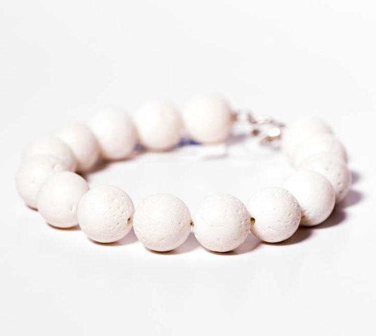 Women's bracelet with White Coral and 925 sterling silver findings by Blue Handmade Jewels.  https://www.facebook.com/BluelJewels/