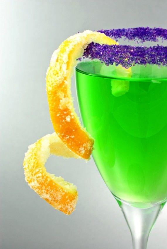 Purple cocktail rimming sugar colored sugar in by ...