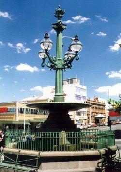 Burke & Wills memorial fountain in Sturt Street Ballarat