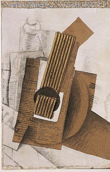synthetic cubism_George Braque - Mandoline, 1914