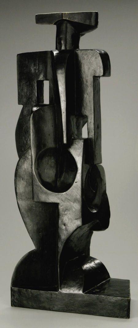 JUAN GRIS (Spanish 1887 - 1927). Harlequin, circa 1917 - 1918. Bronze