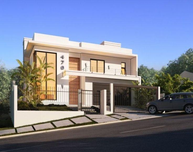 casas contempor neas com telhado pesquisa google