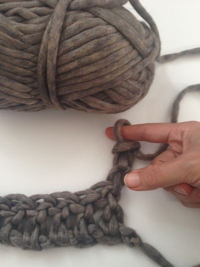 No hook needed! Learn how to finger crochet with this step-by-step tutorial. Great for kids! | Red Heart Blog