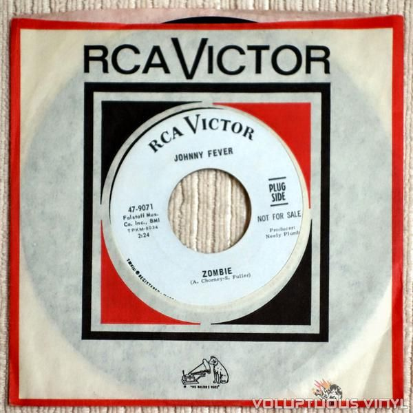 """Rare 7"""" single from obscure garage rock artist Jimmy Fever and the cult song Zombie."""