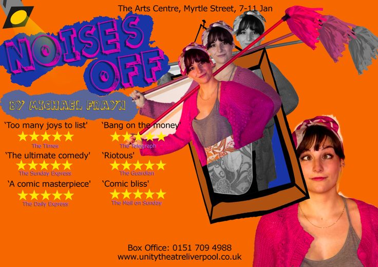 One of a series of Character posters for Noises Off