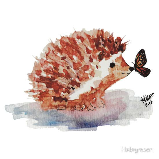Hedgehog and Butterfly Kisses