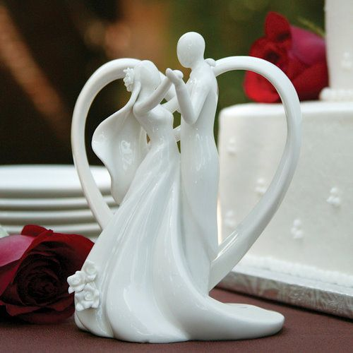 loving embrace wedding cake toppers | Heart Arch & Couple Wedding Cake Topper