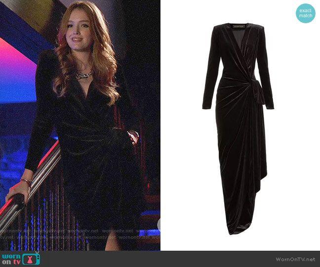 Gathered velvet wrap gown (With images) | Velvet wrap dress ...