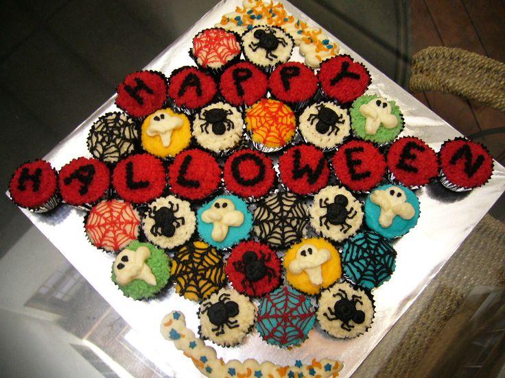 21 best halloween candy buffet ideas images on pinterest for Halloween mini cupcake decorating ideas