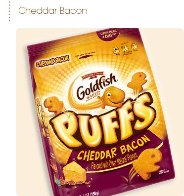 Pepperidge Farm® - Goldfish® Puffs Cheddar Bacon, Flavored with other natural flavors