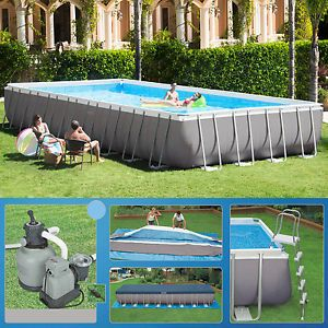 Intex-975-x-488-x-132cm-Swimming-Pool-Rechteck-Stahlwand-Frame-Schwimmbad-28372