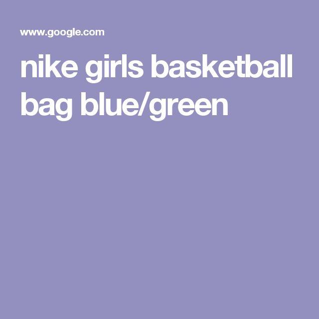 nike girls basketball bag blue/green