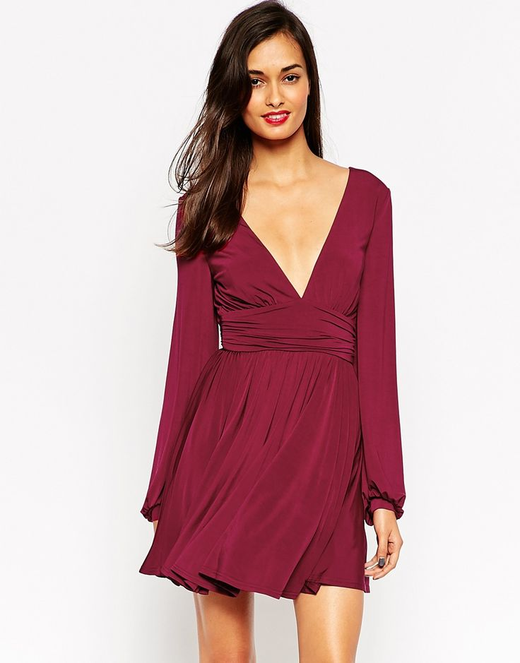 V label red dress asos xs