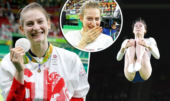 Moment trampoline star Bryony Page breaks down in tears after realising she's…