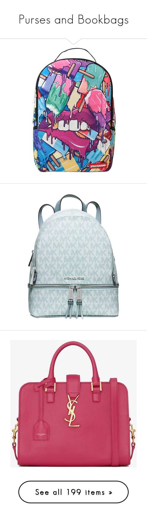 """""""Purses and Bookbags"""" by geazybxtch24 ❤ liked on Polyvore featuring bags, backpacks, accessories, multicolor, day pack backpack, multi coloured bags, multi colored backpacks, zipper bag, multi color backpack and michael kors"""