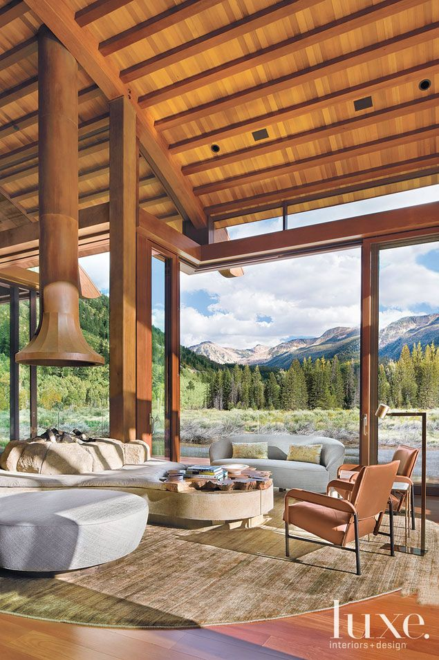 Aspen house by architect Lea Sisson, designers James Magni and Colin  Dusenbury #homedesign