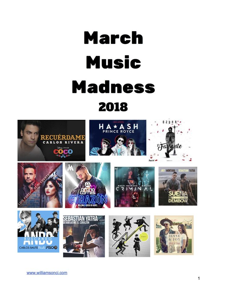 Here is my bracket and accompanying handouts for my 2018 March Music Madness. My students have been asking me about doing March Music Madness since October and finally the time has arrived. Back b…