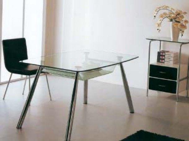 Τραπέζι Νίκελ με Διπλό Τζάμι Ασφαλείας  Τραπέζι Νίκελ με Διπλό Τζάμι Ασφαλείας Διαφανές 6132B - Διαστάσεις: 150x90εκ.