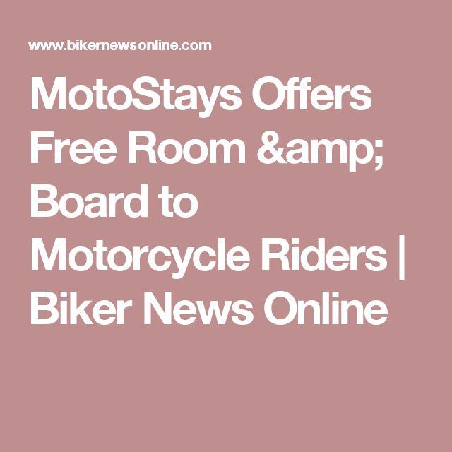 MotoStays Offers Free Room & Board to Motorcycle Riders | Biker News Online