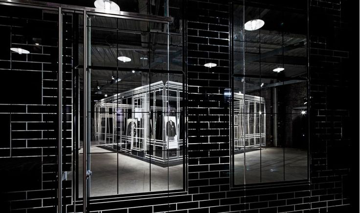Campaign Design: Dunhill wireframe retail interior