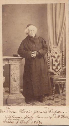 Padre Ottavio Ferrario (1787 - 1867), fotografato da Alessandro Duroni